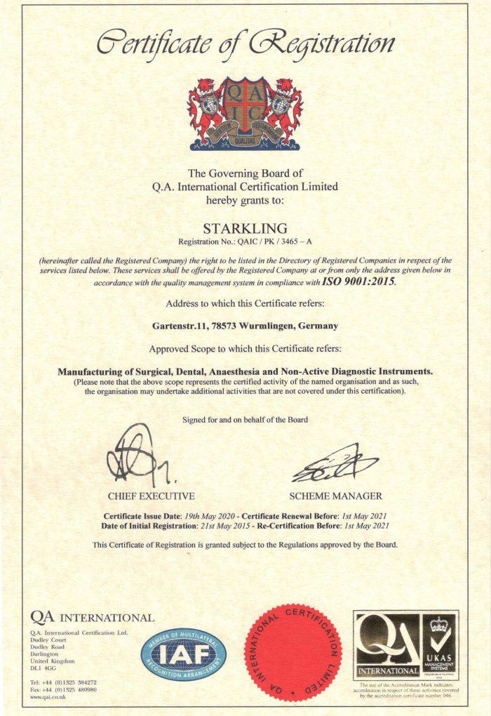 ISO 9001-2015 von 2020